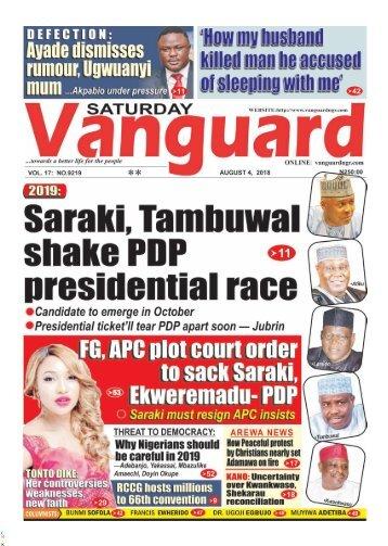 04082018 - 2019: Saraki, Tambuwal shake PDP presidential race