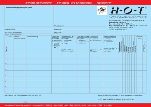 Schutzgasbehandlung: Schutzgas- und  Einsatzhärten ... - Hot