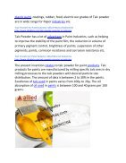 Talc Powder for Paint Industry Allied Mineral Idustries - Page 2