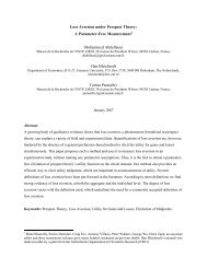 Loss Aversion under Prospect Theory: A Parameter-Free ... - RePub
