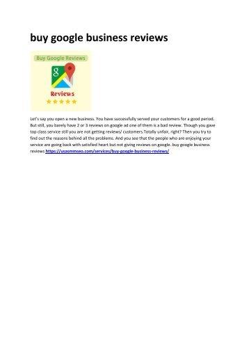 1 buy google business reviews