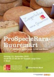 ProSpecieRara- Buuremärt - Alpines Steinschaf