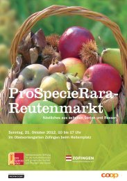 ProSpecieRara- Reutenmarkt - regiolive.ch