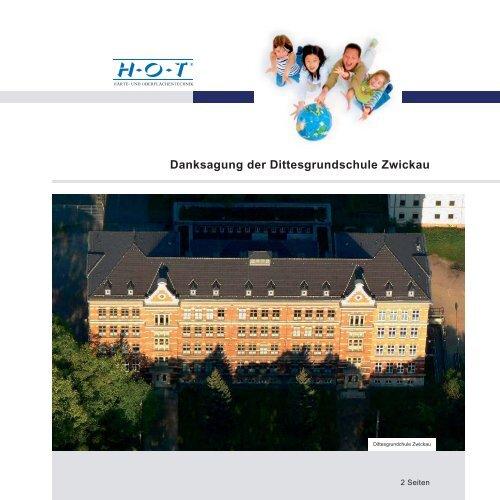 Danksagung der Dittesgrundschule Zwickau - Hot