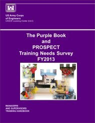 The Purple Book and PROSPECT Training Needs Survey FY2013