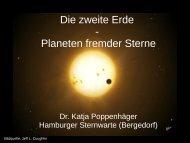 Die zweite Erde - Planeten fremder Sterne - Hamburger Sternwarte