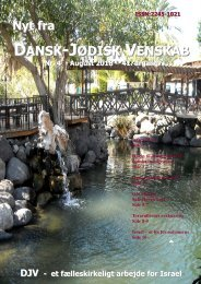 Nyt Fra Dansk-Jødisk Venskab – Nr. 4 – August 2018 – 41. årgang