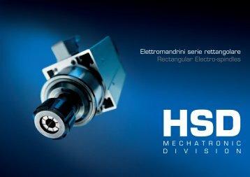 Elettromandrini serie rettangolare Rectangular Electro-spindles - HSD