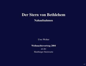 Der Stern von Bethlehem - Nahaufnahmen - Hamburger Sternwarte