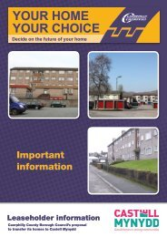 YOUR HOME YOUR CHOICE - Caerphilly County Borough Council