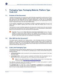 1. Packaging Type, Packaging Material, Platform Type Code List - GS1