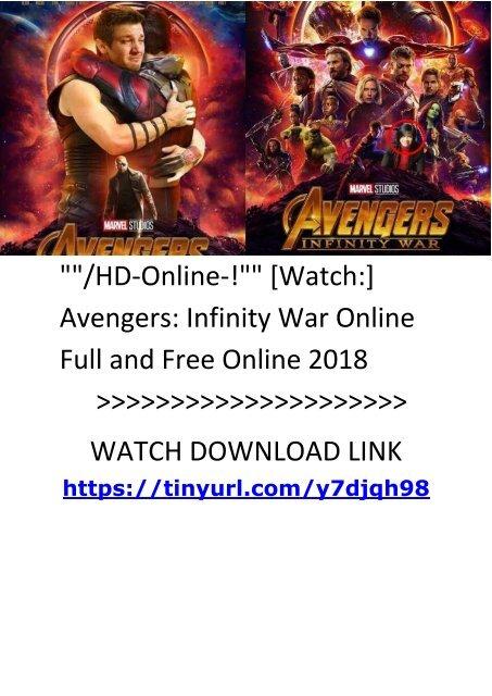 watch infinity war online
