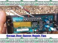 Garage Door Opener Repair Tips