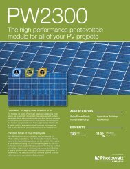 Combiner Specifications - Ontario Solar PV Fields