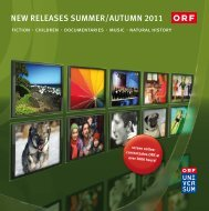 NEW RELEASES SUMMER/AUTUMN 2011 - ORF ENTERPRISE