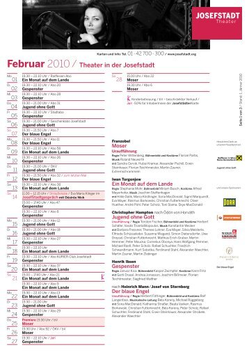 Februar - Theater in der Josefstadt