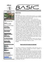 efba-p - European Federation for Bioenergetic Analysis ...