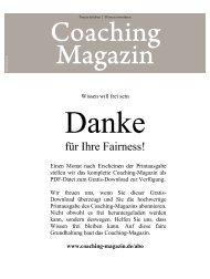 für Ihre Fairness! - Coaching-Magazin