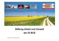 Stiftung Arbeit und Umwelt der IG BCE - Chemie-Sozialpartner