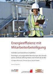 Energieeffizienz mit Mitarbeiterbeteiligung - Stiftung Arbeit und Umwelt