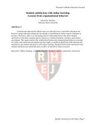 Student satisfaction with online learning - Academic and Business ...