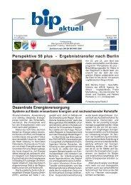 Ergebnistransfer nach Berlin - Bildungsinstitut PSCHERER gGmbH