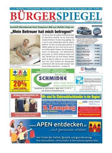 August 2018   Bürgerspiegel