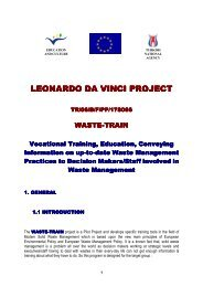 leonardo da vinci project leonardo da vinci project - The Waste Train ...