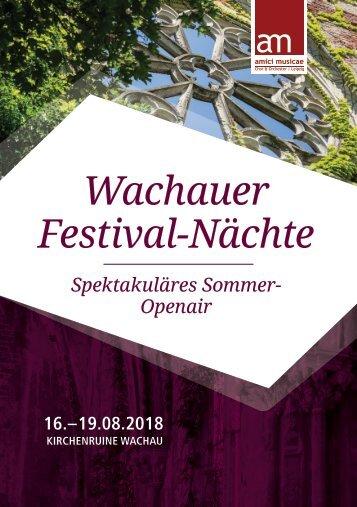 Programmheft | Wachauer Festival-Nächte 2018