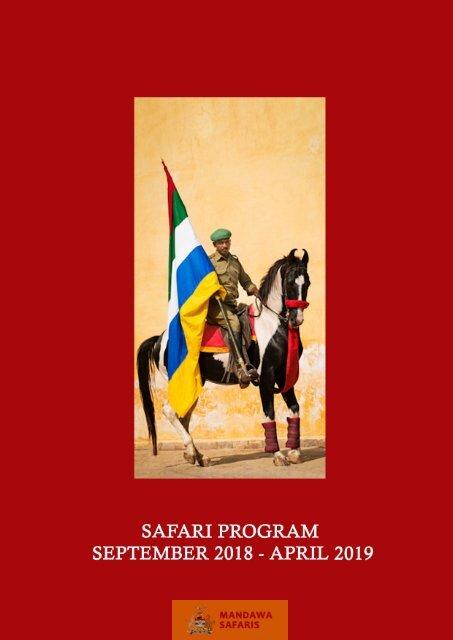 Mandawa Safaris - Safari Program Season 2018/2019
