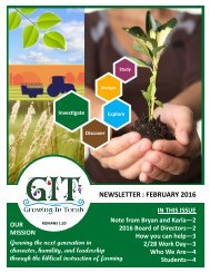 GIT Newsletter [1602] - February 2016
