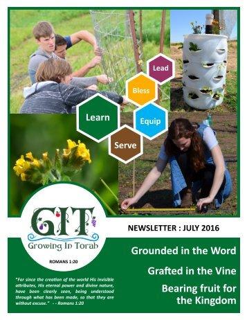 GIT Newsletter [1607] - July 2016 (FINAL)