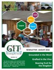 GIT Newsletter [1608] - August 2016