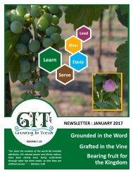 GIT Newsletter [1701] - January 2017