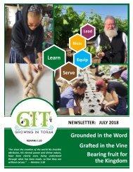 GIT Newsletter [1807] - July 2018
