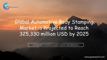 Global Automotive Body Stamping Market is Projected to Reach 325,330 million USD by 2025
