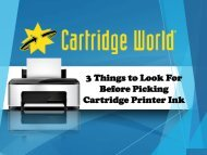3 Things to Look For Before Picking Cartridge Printer Ink