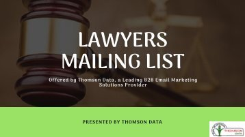 Lawyers Mailing List
