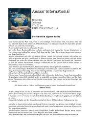 Ansaar International: Statement in eigener Sache von Andrea Mohamed Hamroune