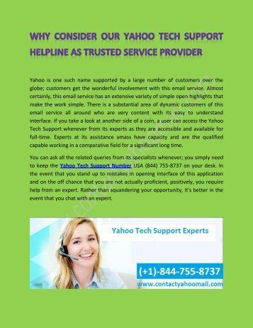Yahoo Tech Support team assist to fix Problem