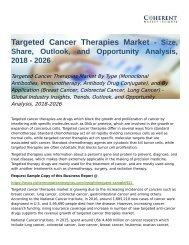 Targeted Cancer Therapies Market - Global Opportunity Analysis 2018 - 2026