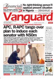 06082018 - ALLEGED PLOT TO REMOVE SARAKI AS SENATE PRESIDENT:APC, R-APC tango over plan to induce each senator with N50m