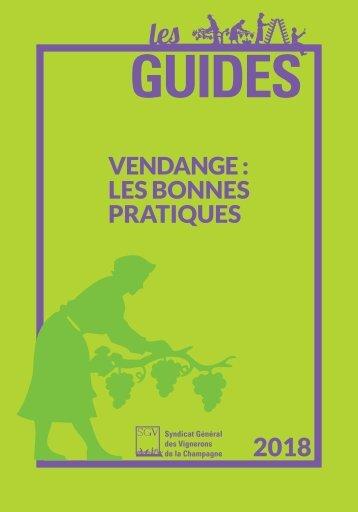 Les Guides du SGV - Bonnes pratiques vendange 2018