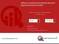 Military Training Aircraft Market Research Report – Global Forecast to 2023