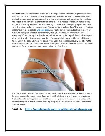 Lite Keto Diet -  Weight Loss Pills to Reduce Your Fats
