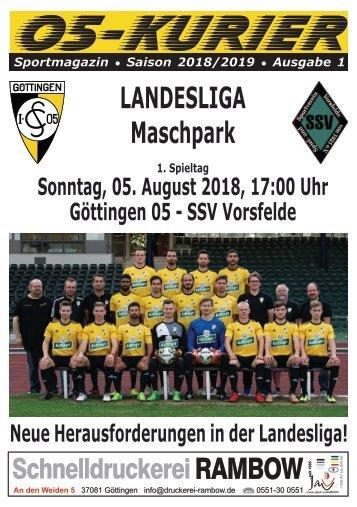 Saison 18/19 - SpTg 1: Gö̈ttingen 05 - SSV Vorsfelde