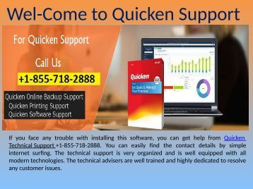 Quicken Tech Support Number +1-855-718-2888