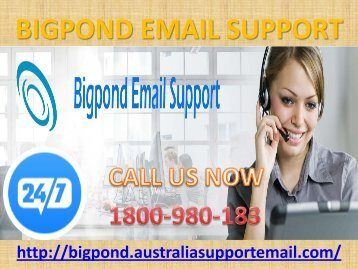 Bigpond Email Support 1-800-980-183 | Recuperation Call