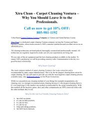 Carpet Cleaning Ventura – Make your Carpet Look and Feel Like New Again!