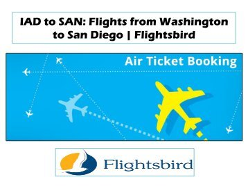 Low cost flights from Washington to San Diego | Flightsbird